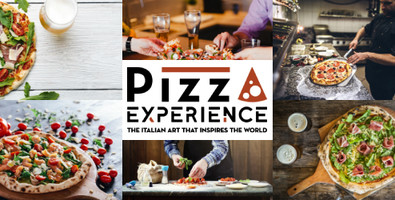 Pizza Experience's claim and logo