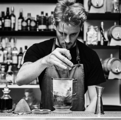 "Andrea Camparmò - Head bartender of Cocktail bar Bistrot and Ristorante ""Valbruna"" in Padua"